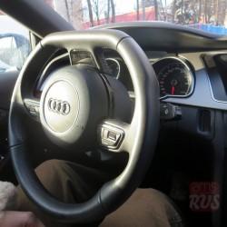 Audi A5 Sportback. Усеченный внизу руль – красиво и логично до первого оборота, когда срезанная хорда оказывается не к месту.