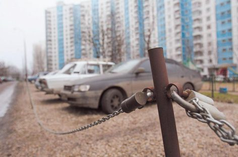 Захват парковок в Климовске