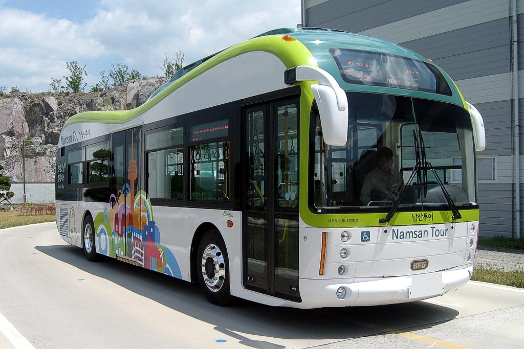 Автобус в Корее на суперкондиционерах