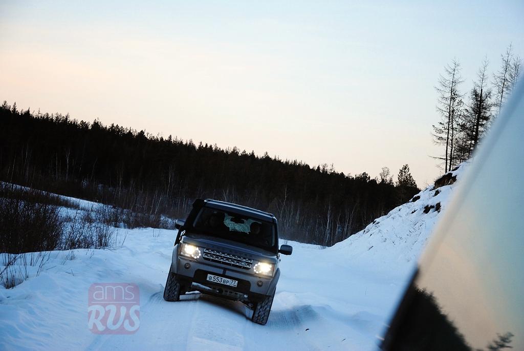 Закат Якутия Land Rover