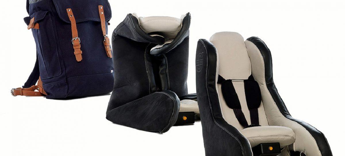 Volvo разработал новые надувные детские кресла
