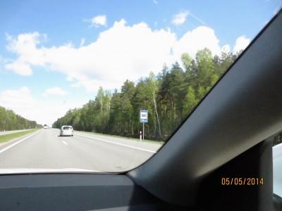 Кругом лес, но до туалета 24 км. И вся Белоруссия спокойно едет до WC, избегая обочины...