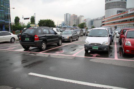 В Южной Корее появились парковочные места «только для леди»