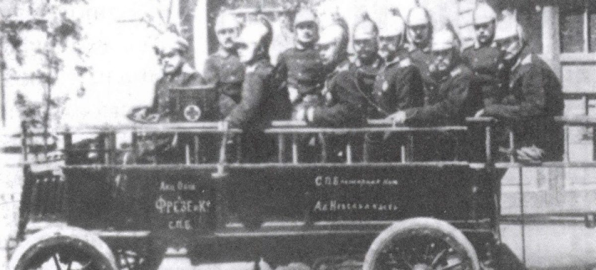 Первый пожарный автомобиль – 1904 год