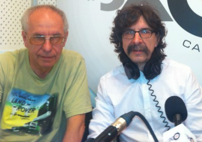 Александр Пикуленко и Сергей Бунтман в студии Эха в Самаре
