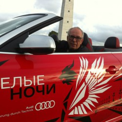 Александр Пикуленко на тест-драйве Audi в Санкт-Петербурге