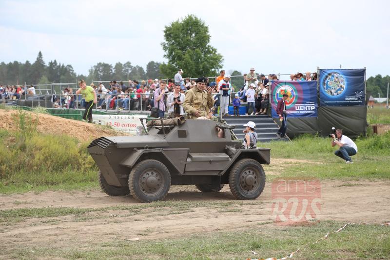 Британский Dingo. Международный слет Моторы Войны. Реконструкция событий Второй мировой войны