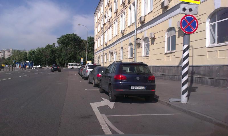 можно парковаться перед знаком