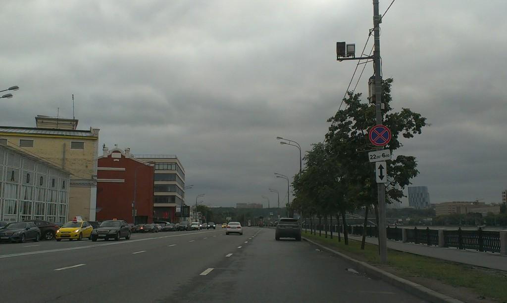 Парковка на Саввинской набережной