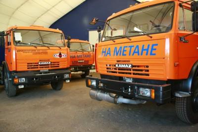 КАМАЗ с газобаллонным оборудованием