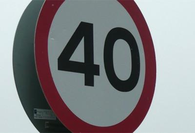Ограничение скорости 40 км/ч