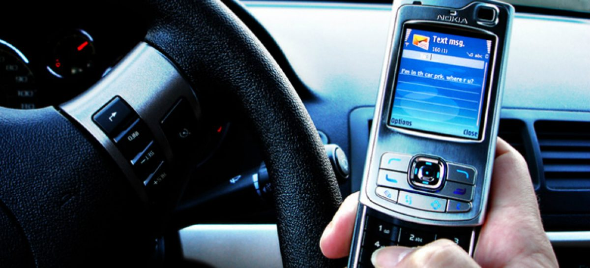 SMS за рулем опаснее алкоголя