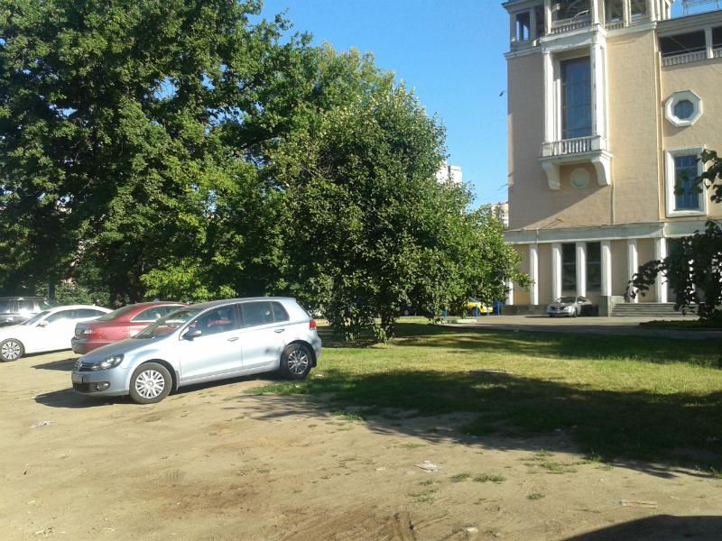 Автомобили на газоне