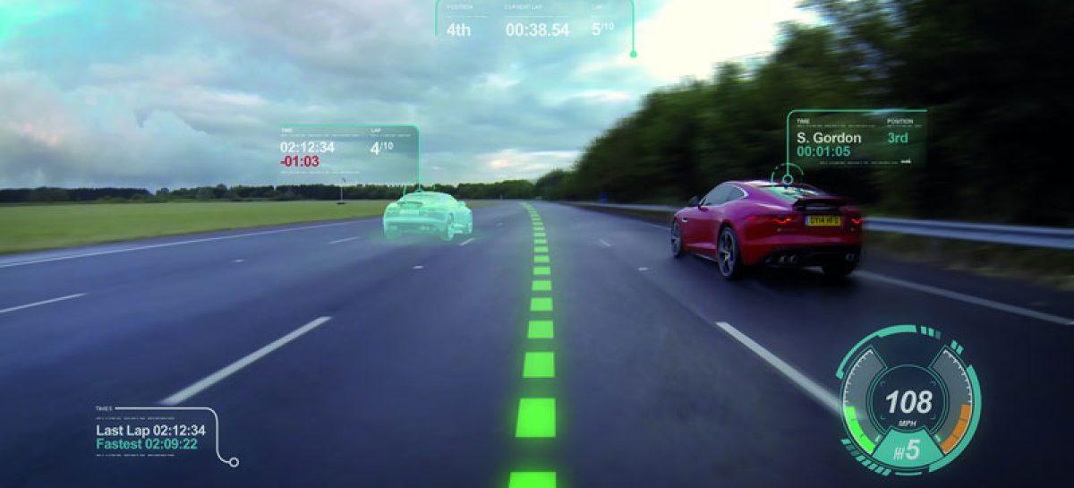 Jaguar представляет концепт виртуального лобового стекла