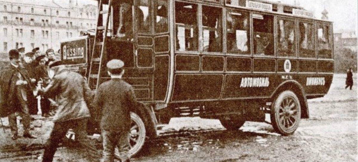 Первая линия маршрутных автолинеек в Москве — 1907 год