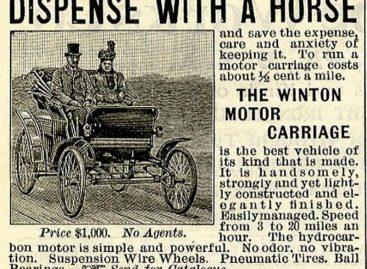 Первая автомобильная реклама — 1898 год