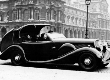 Первый автомобиль Peugeot 401 Eclipse — 1934 год