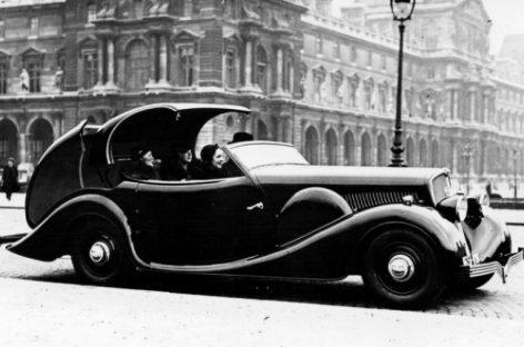 Первый автомобиль Peugeot 401 Eclipse – 1934 год