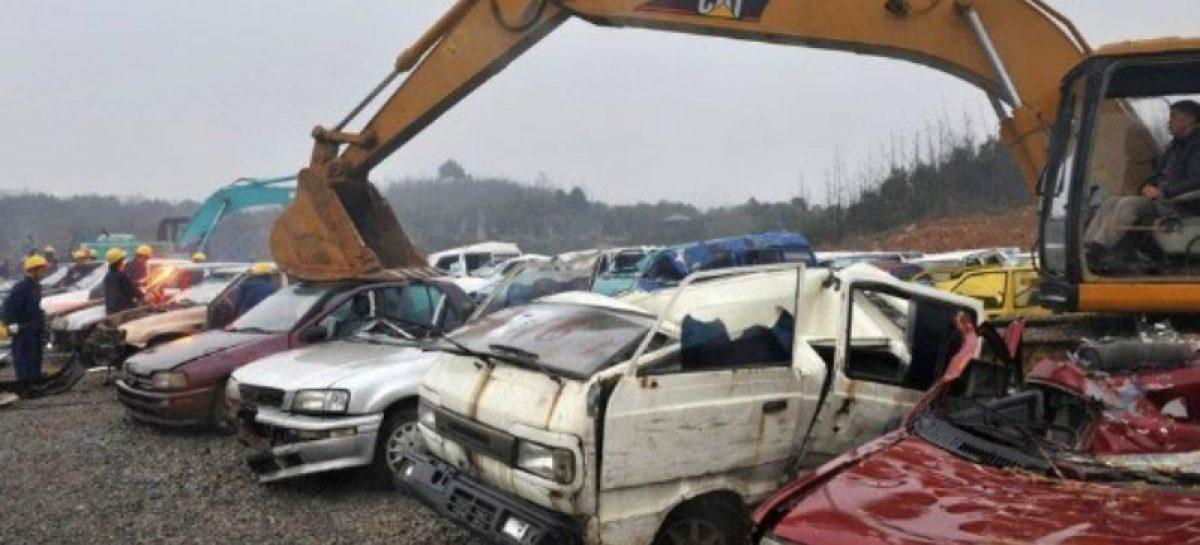 В Китае уничтожат старые машины