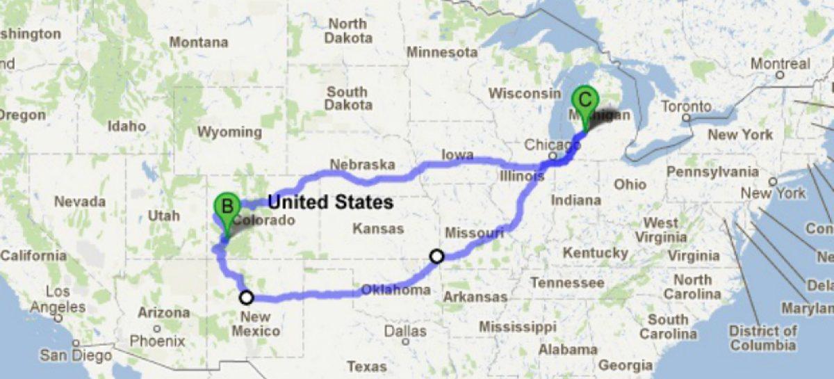В Америке можно просчитать маршрут с учетом снегопада