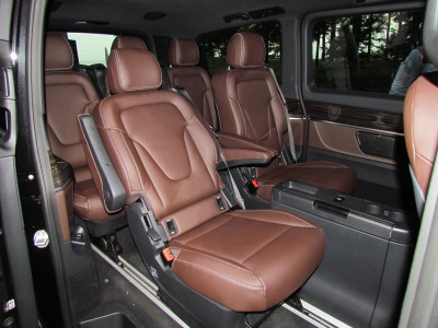 Задний отсек салона Mercedes-Benz V250