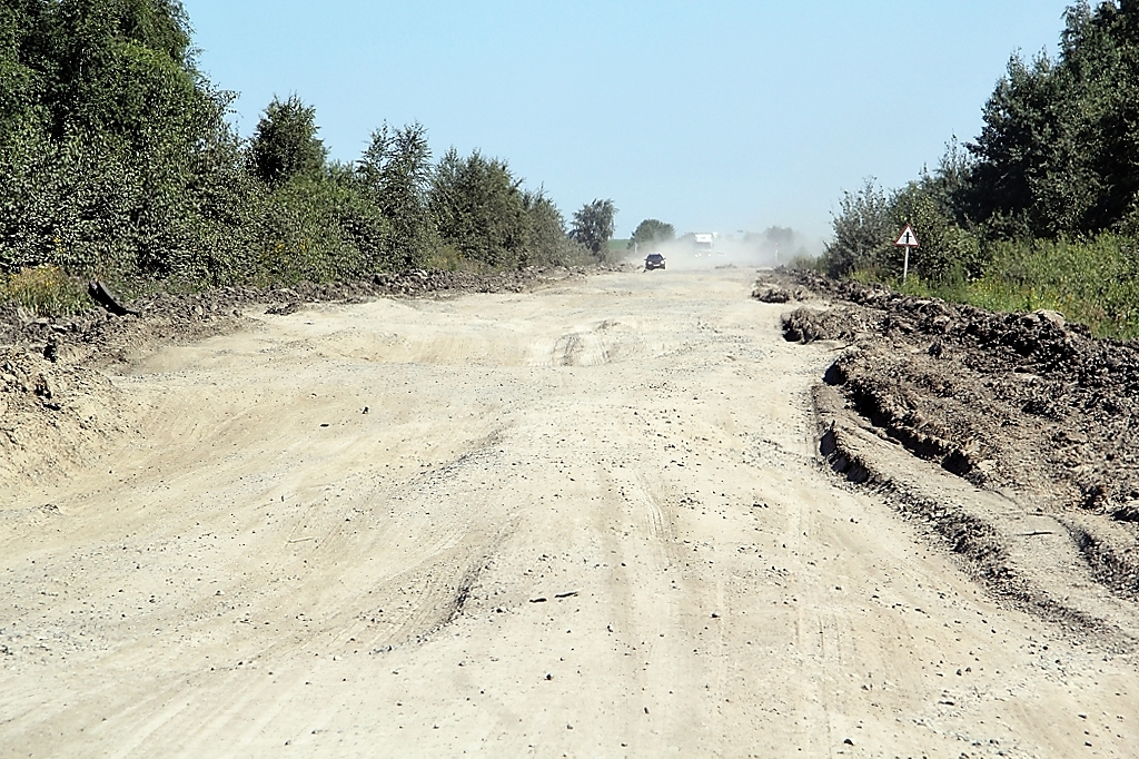 В Курганской области бывшая асфальтовая дорога превратилась в сплошной ад