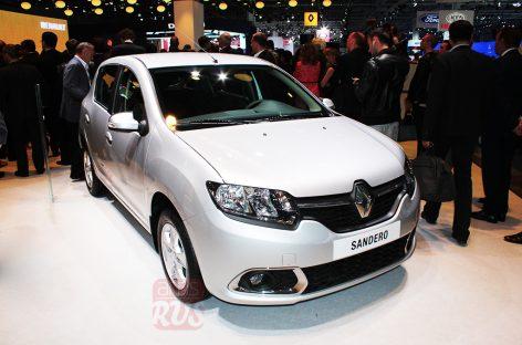 Renault Sandero выполнен в едином стиле с седаном Logan