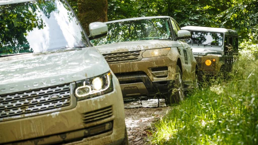 Land Rover по бездорожью