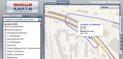 Схемы маршрутов автобусов
