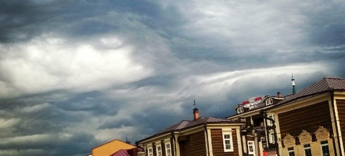 Фантастическое небо над Иркутском