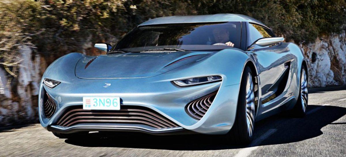 QUANT E – Sportlimousine: заправиться соленой водой и обогнать Bugatti Veyron!
