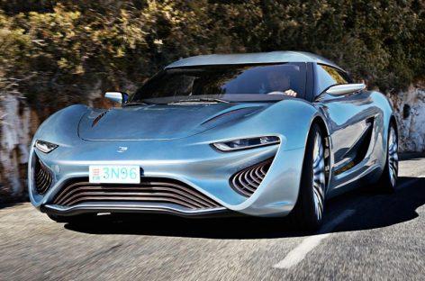 QUANT E — Sportlimousine: заправиться соленой водой и обогнать Bugatti Veyron!