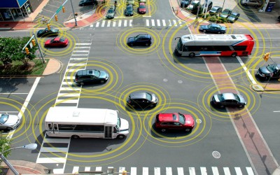Технология безопасности дорожного движения Vehicle-to-Vehicle