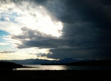 Закат на озере Хубсугул
