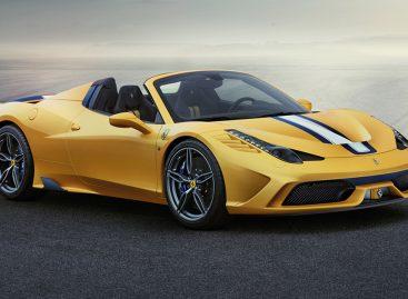 Ferrari представит один из самых мощных кабриолетов серии 458 Speciale