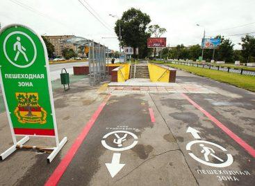 На московские тротуары хотят нанести дорожную разметку