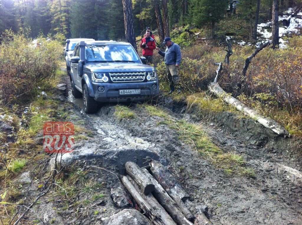 На Land Rover Discovery по бездорожью