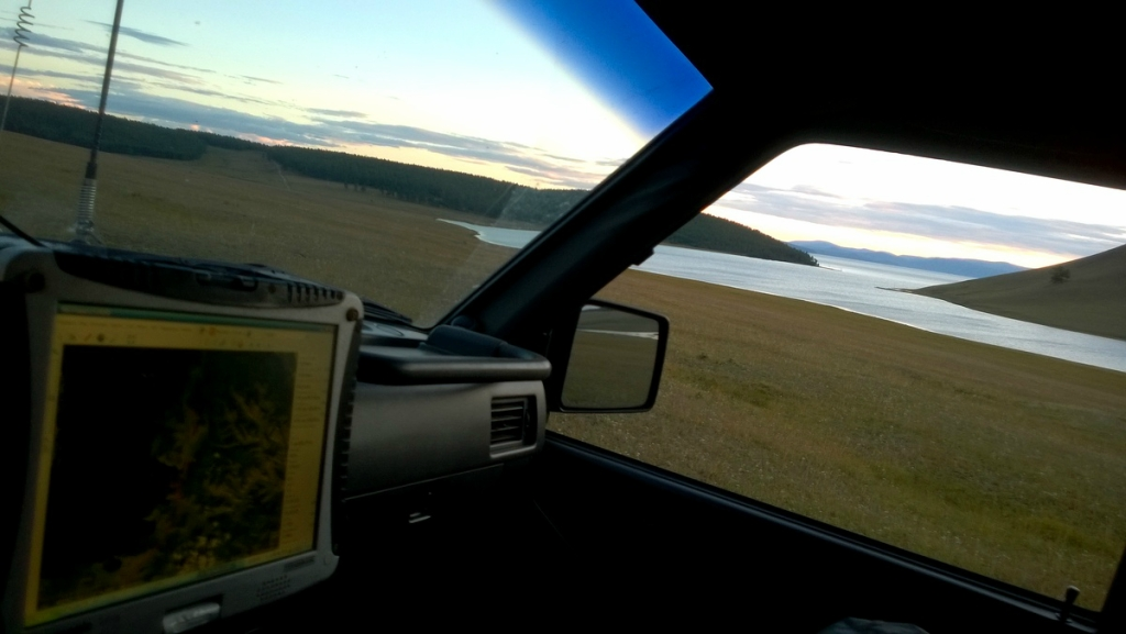 Вид из окна машины