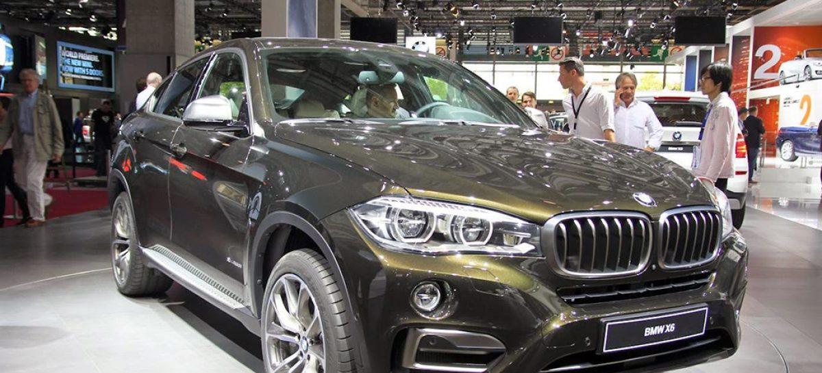 Новую BMW X6 показали живьем