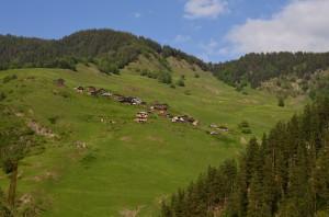Горный перевал на пути в Тушетию