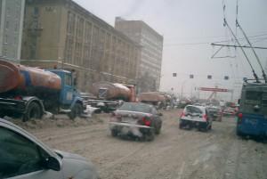В Москве выпал первый снег