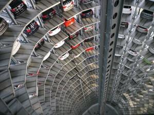 Парковки в вертикальных шахтных стволах метро