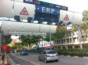 Electronic Road Pricing - первая в мире система платного въезда в центр города в Сингапуре