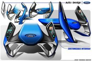 Футуристический руль Ford