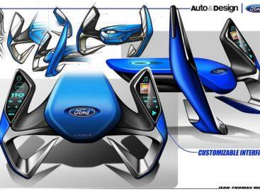 Французский дизайнер изобрел интерактивный автомобильный руль Ford