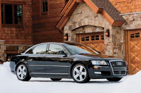 Бабы мечтательно тянули руки к Audi A8