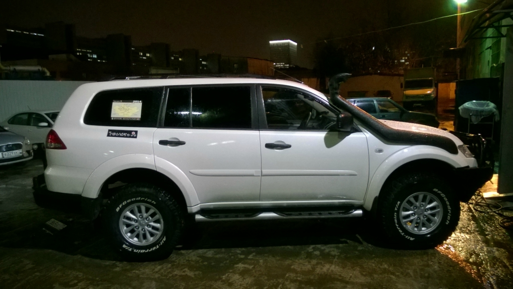 Mitsubishi Pajero Sport с шинами BF Goodrich All-Terrain TA