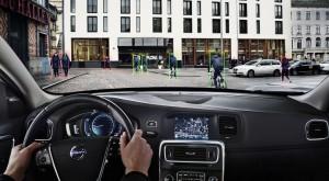 Система обнаружения велосипедистов Volvo