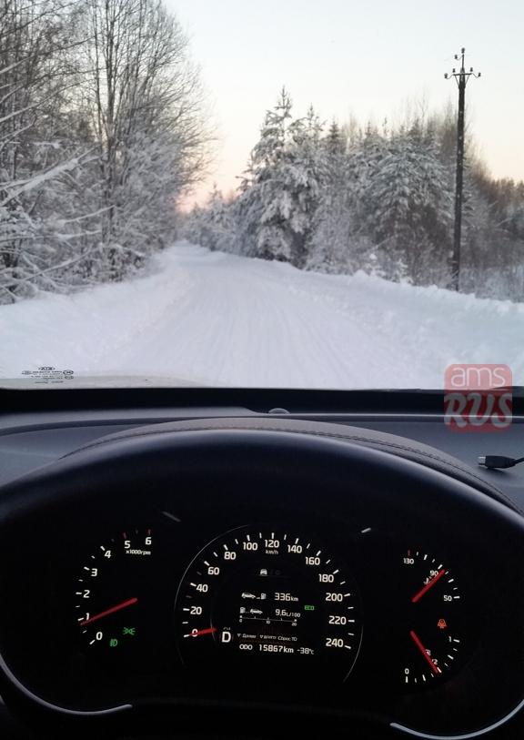Дизельный KIA Sorento FL в условиях мороза не сплоховал