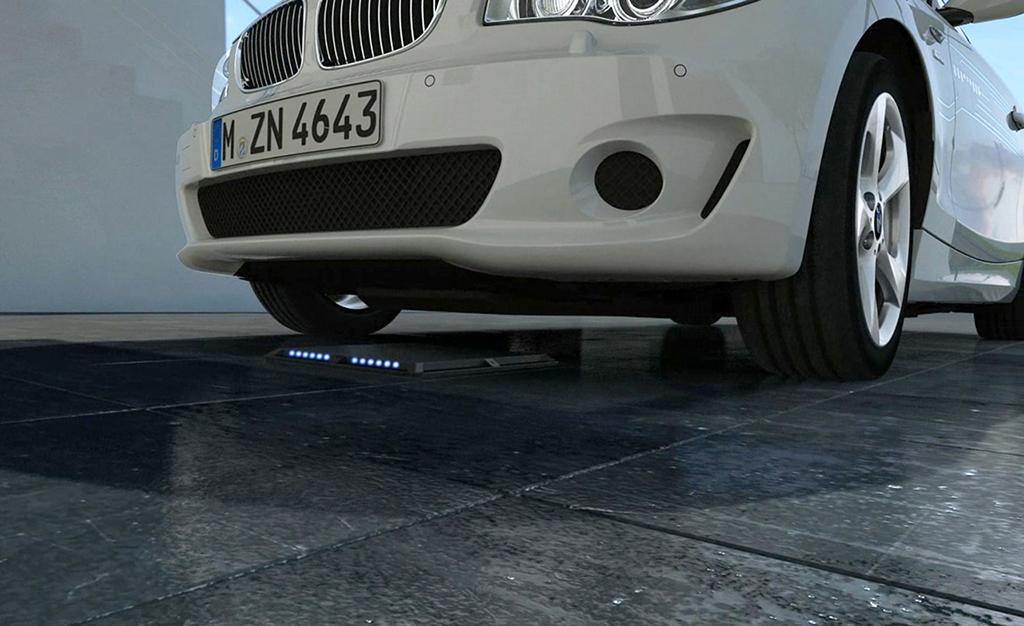 Беспроводная зарядка для электромобилей BMW